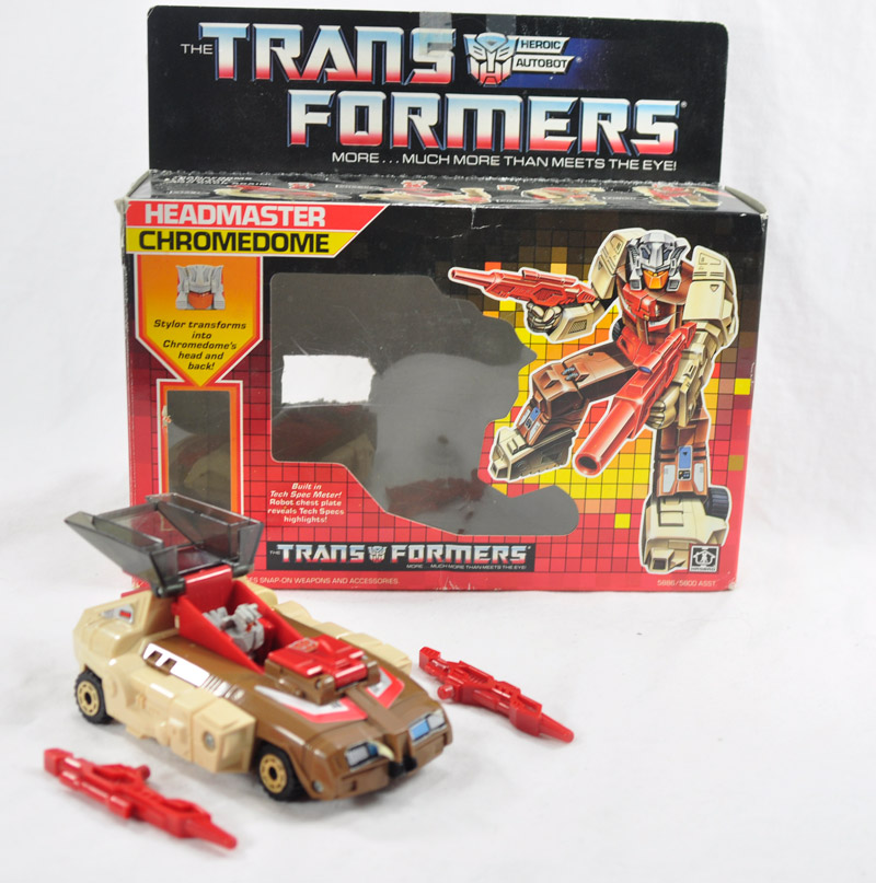 Generation 1 Headmaster Chromedome with all accessories!