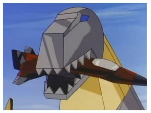 Grimlock eats Thrust in the Transformers series 2 intro