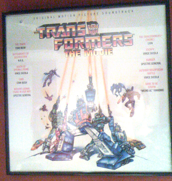 Transformers The Animated Movie soundtrack on Vinyl