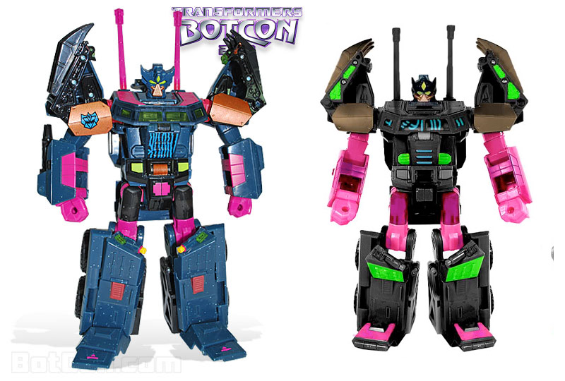 Botcon 2010 Clench compared to White Mocha's digibash