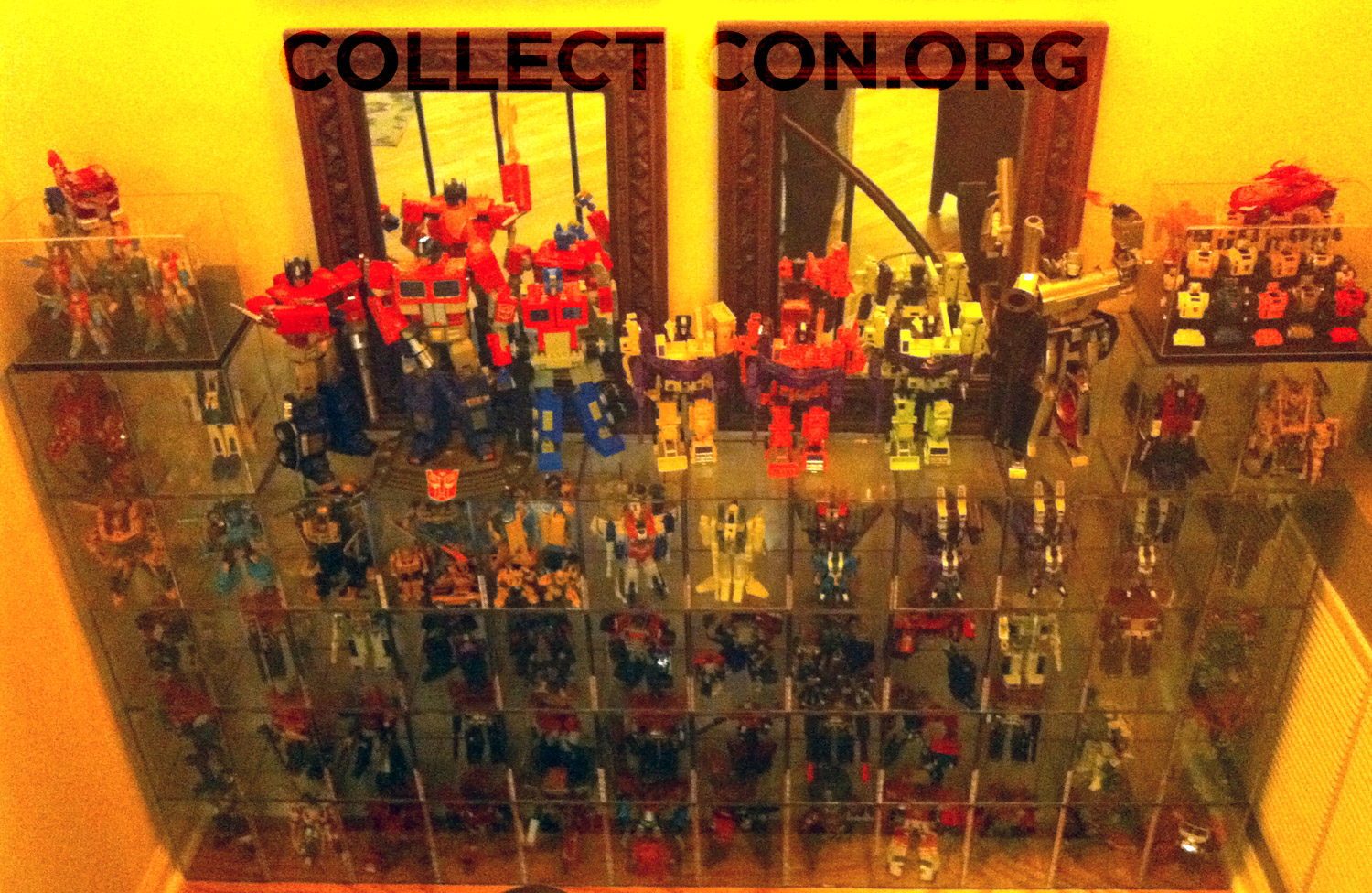 Collecticon Transformer collection after the basement flooded