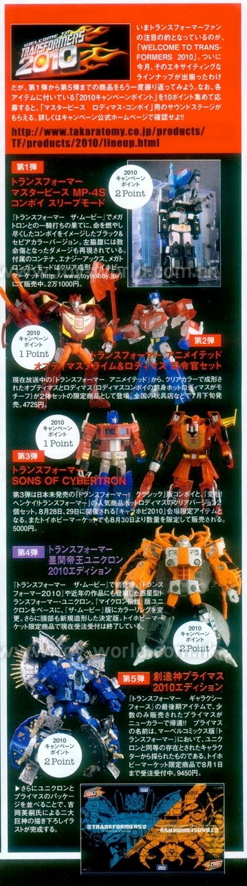 Figure King 150 Transformers 2010 spread
