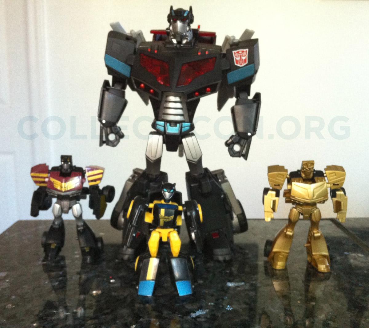 Collecticon's TakaraTomy EZ Collection 4 Elite Guard autobots & Black Convoy