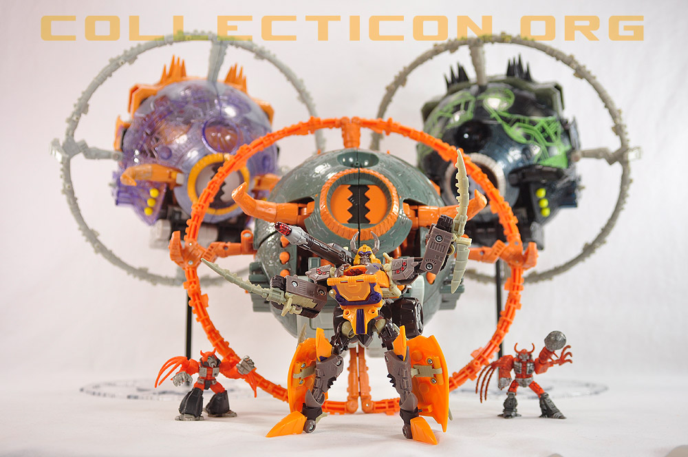 Transformers 2010 Unicron with Cybertron Unicron and friends