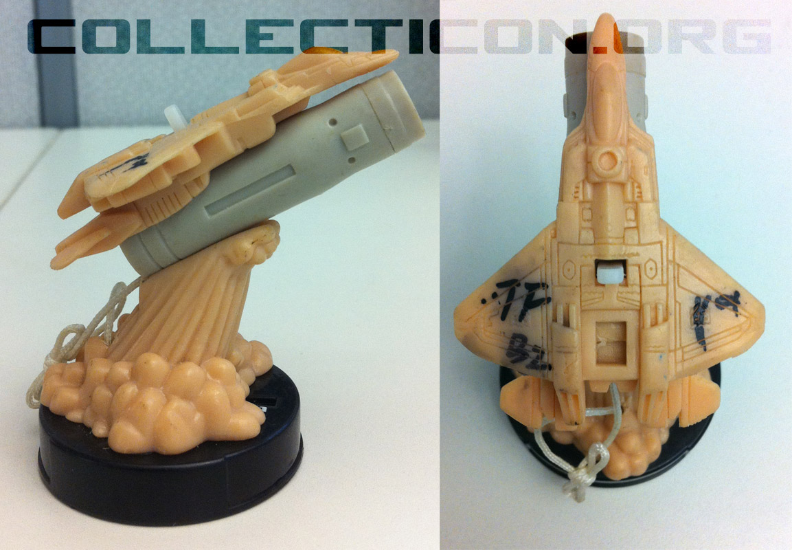 Side and top views of Attacktix Energon Starscream prototype