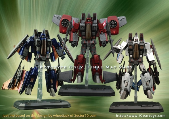 igear Conehead Seeker knock offs Thrust, Dirge, and Ramjet