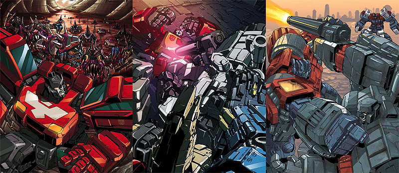 Transformers The War Within - Age of Wrath - unreleased comic book covers