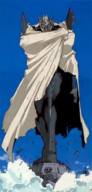 Evangelion Unit 02 with cloack Megatron head