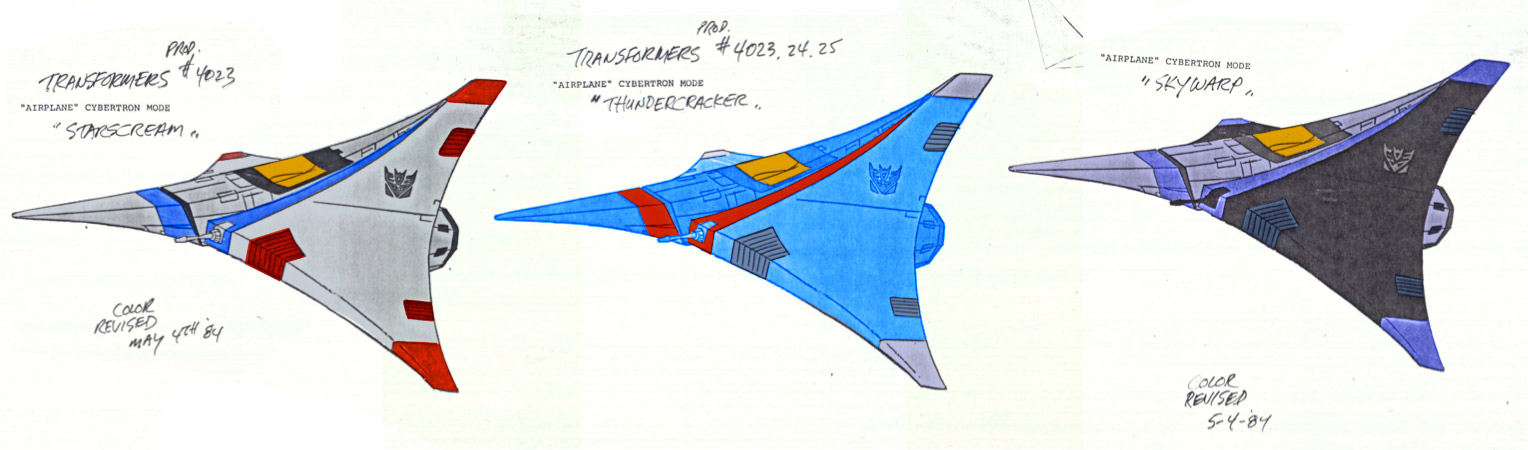 The G1 seekers tetrajet models in color!