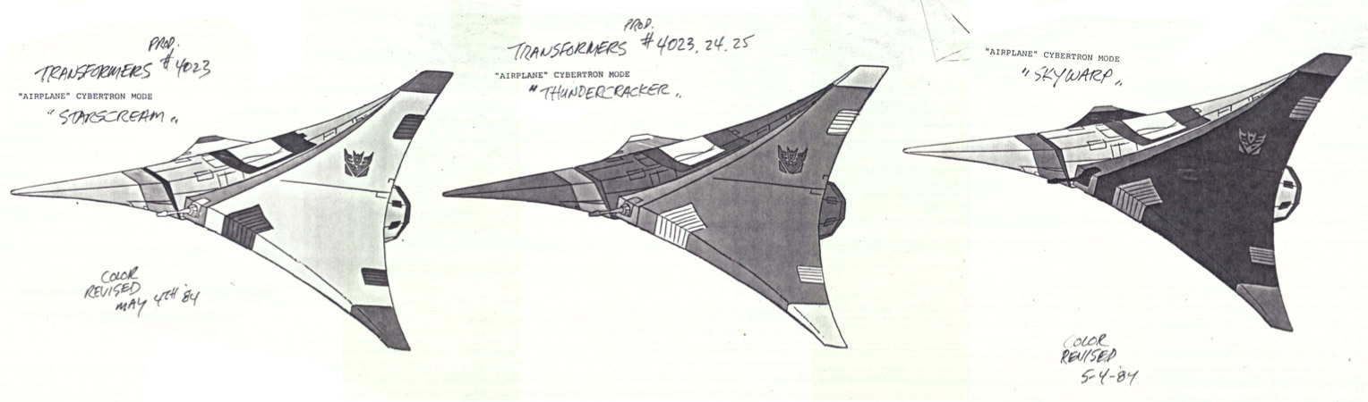 Transformers G1 Cybertronian seeker animation model for Starscream, Thundercracker, and Skywarp!