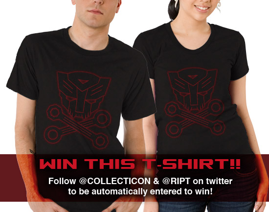 Win a RIPT Apparel Autoskull t-shirt by following Collecticon and RIPT on twitter