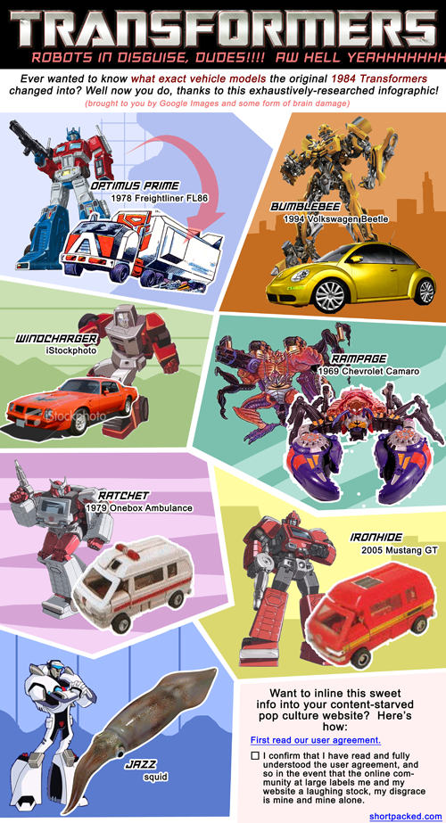 Transformers shitty infographic parodied by Shortpacked