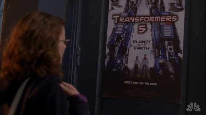 Transformers 5 poster on 30 Rock