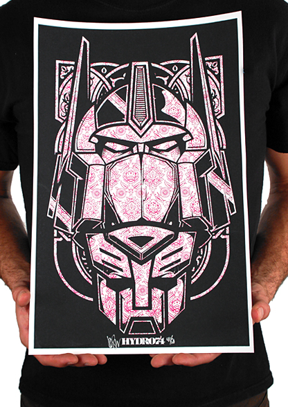 New limited edition Transformers screen prints from Hydro74
