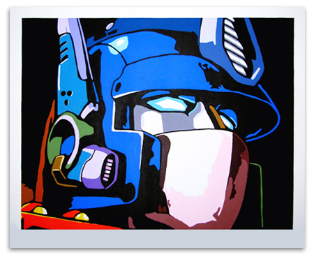 Optimus Prime painting