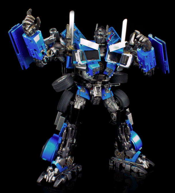 Blue diaclone power convoy rotf optimus prime