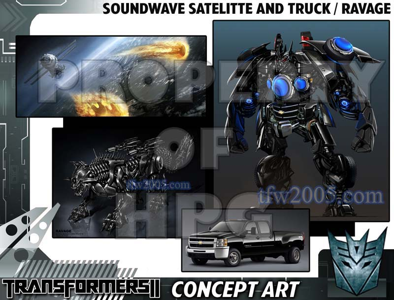 Transformers Revenge of the Fallen concept art for Soundwave as a truck