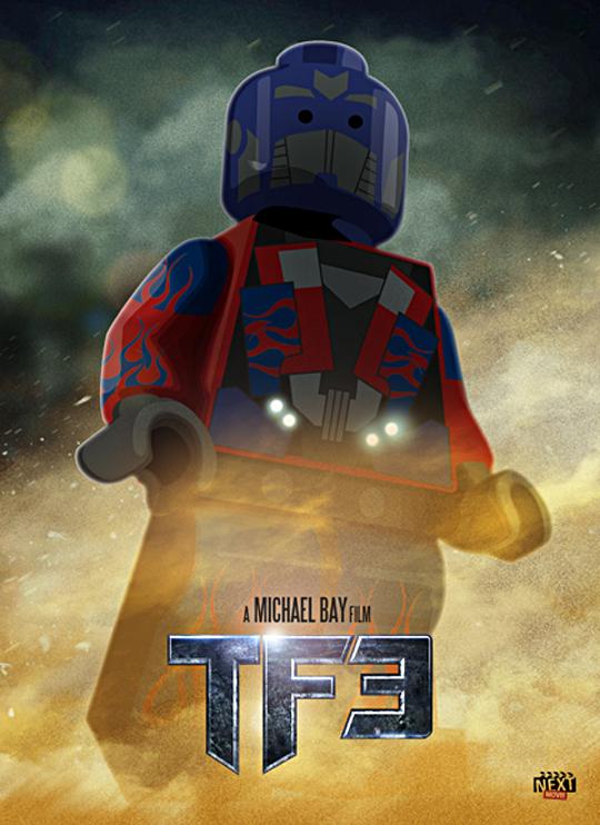 Dark of the Moon Optimus Prime lego poster