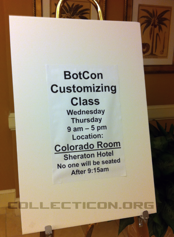Botcon 2011 Animated customizing class sign