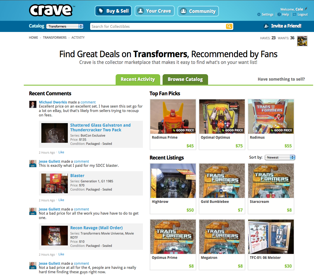 crave homepage