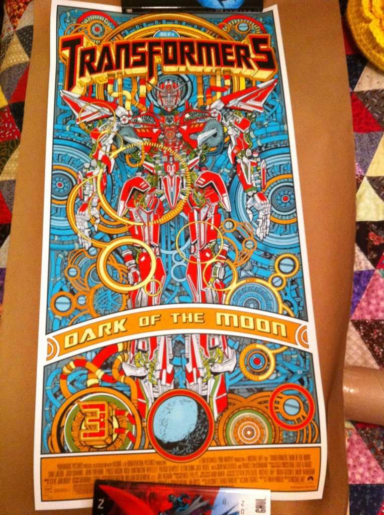 Transformers Dark of the Moon screen printed mondo poster