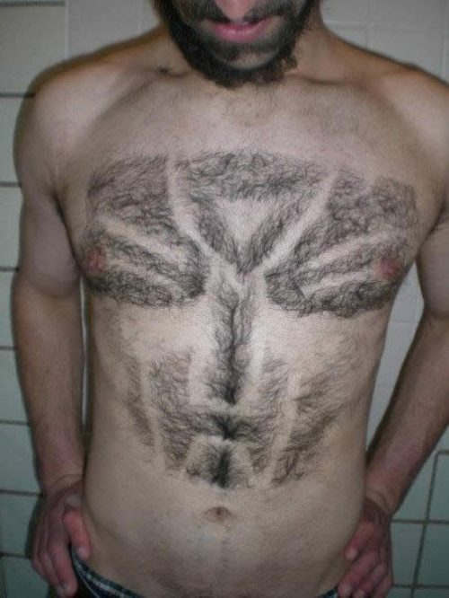 Chest hair Autobot symbol – the horror