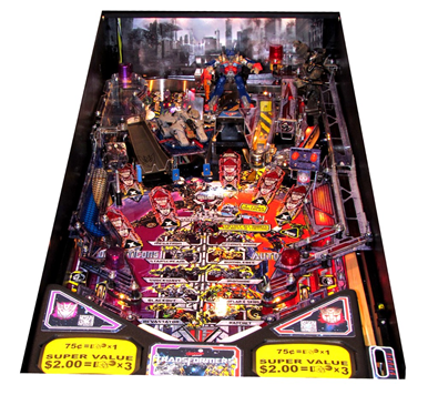 Transformers Pinball playfield