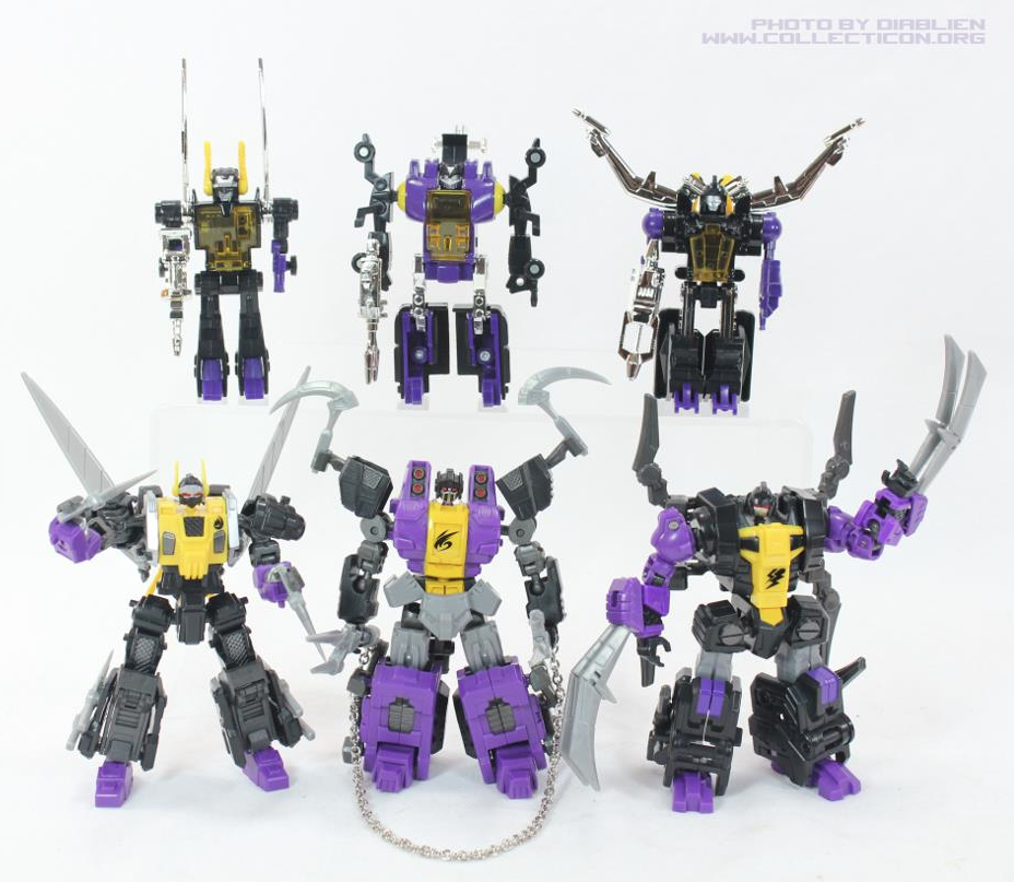 Fansproject Insecticon figures with G1 versions