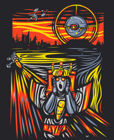 The Death of Starscream – get it on your chest from RIPT Apparel!