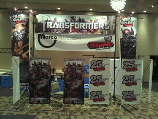 Transformers displays at 27th Annual Pinball Expo in Chicago