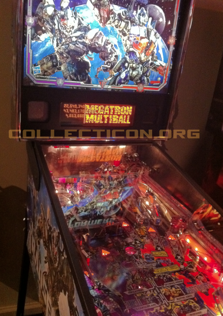Transformers pinball test machine hands on