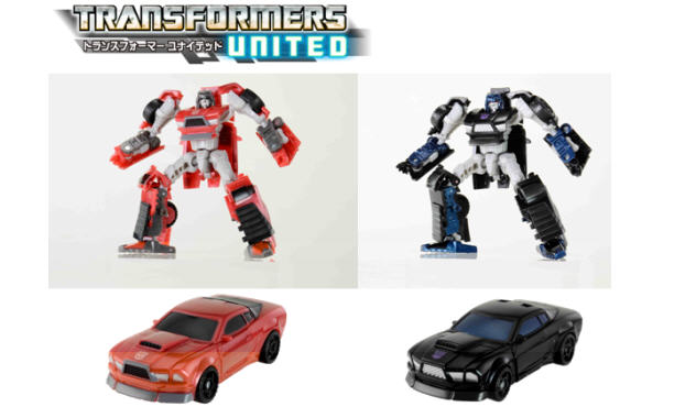 Transformers United Windcharger and Wipe Out TakaraTomy Japan