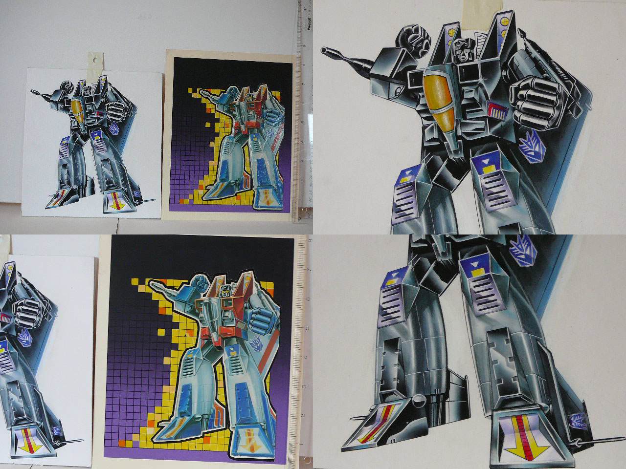 Generation 2 Black Starscream artwork