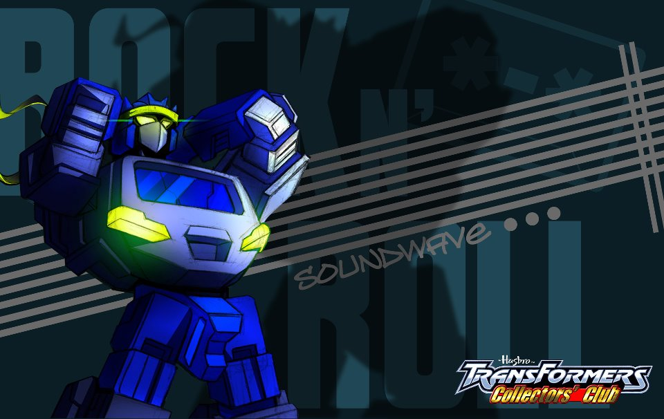 Shattered Glass Soundwave artwork