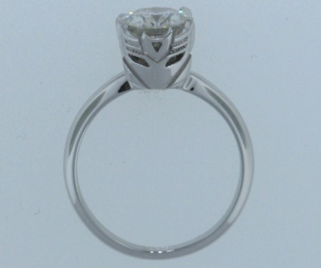 Custom Decepticon engagement ring setting – even evil needs love