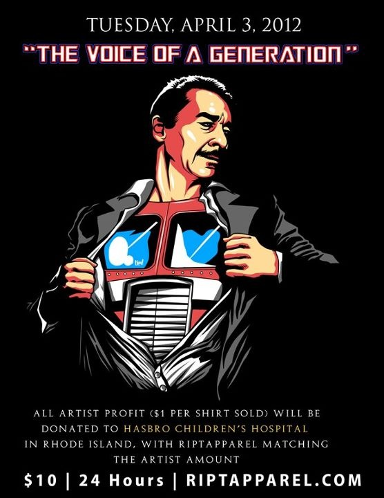 Peter Cullen charity t-shirt from RIPT Apparel