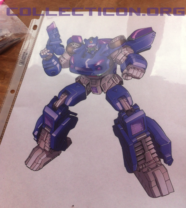 Botcon 2012 custom class Shattered Glass Longarm profile art purple