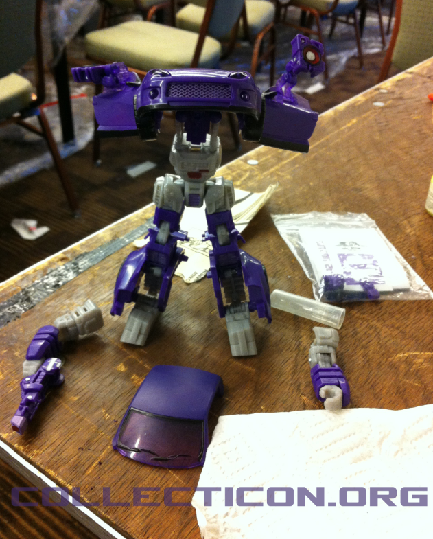 Longarm Shockwave Shattered Glass Transformer custom paint
