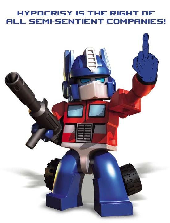 Kreo Optimus Prime is copyright infringement