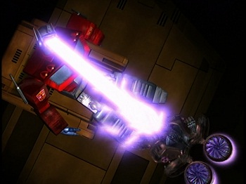 2 Beast Wars Megatron destroys G1 Optimus Prime
