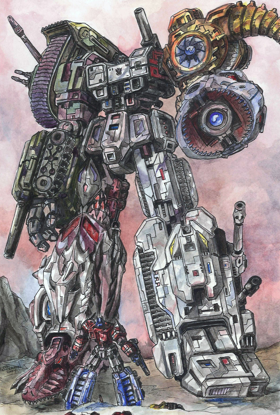 Combiner Megatron by Zhenderson