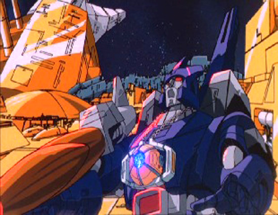 Galvatron shocked as Unicron Transforms in the movie