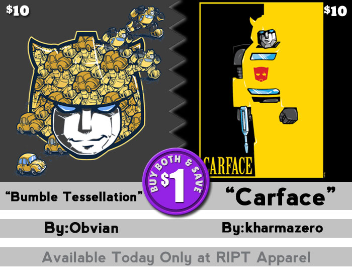 Sweet new Bumble-Tees from RIPT Apparel today only