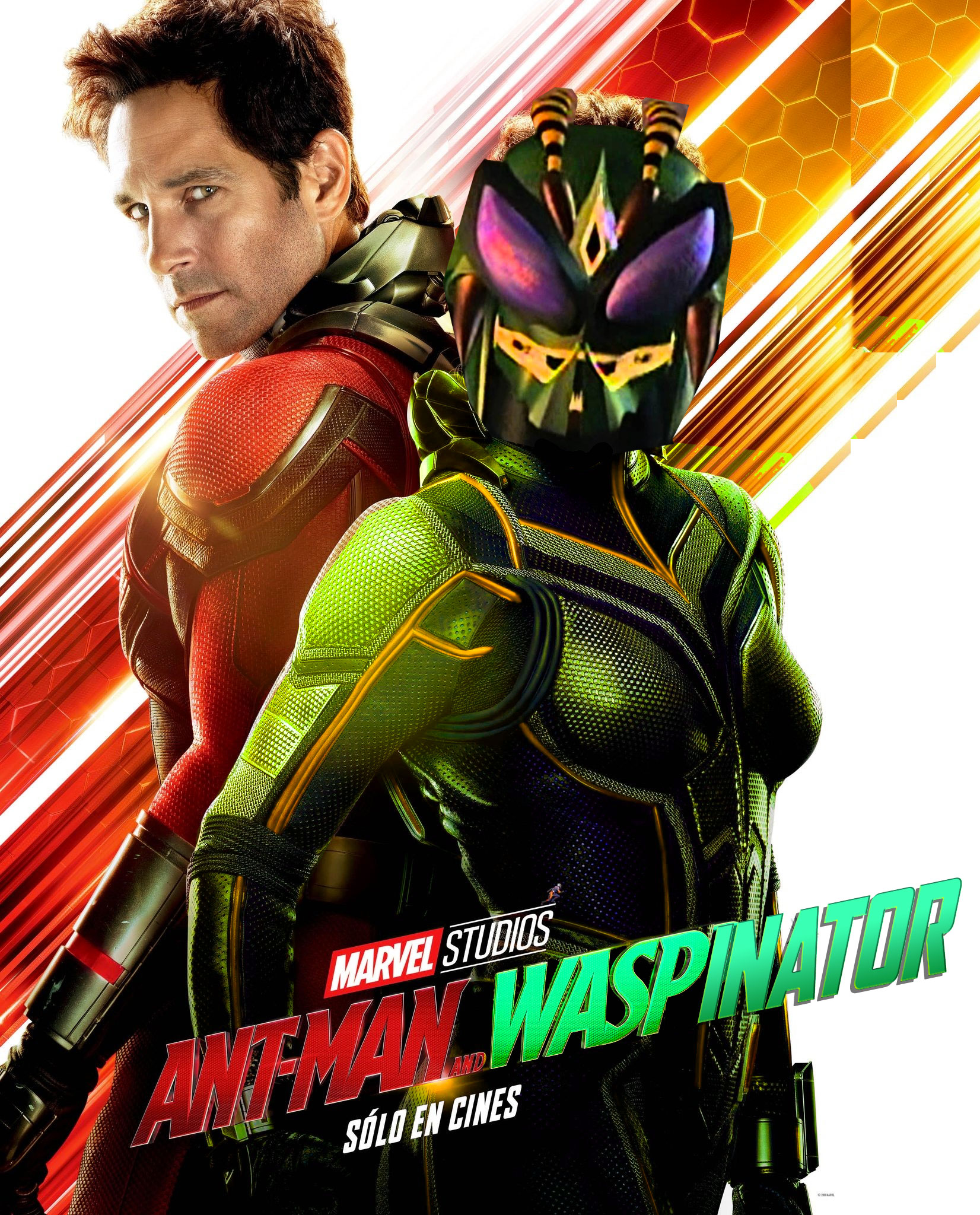 Ant-man and Waspinator parody movie poster