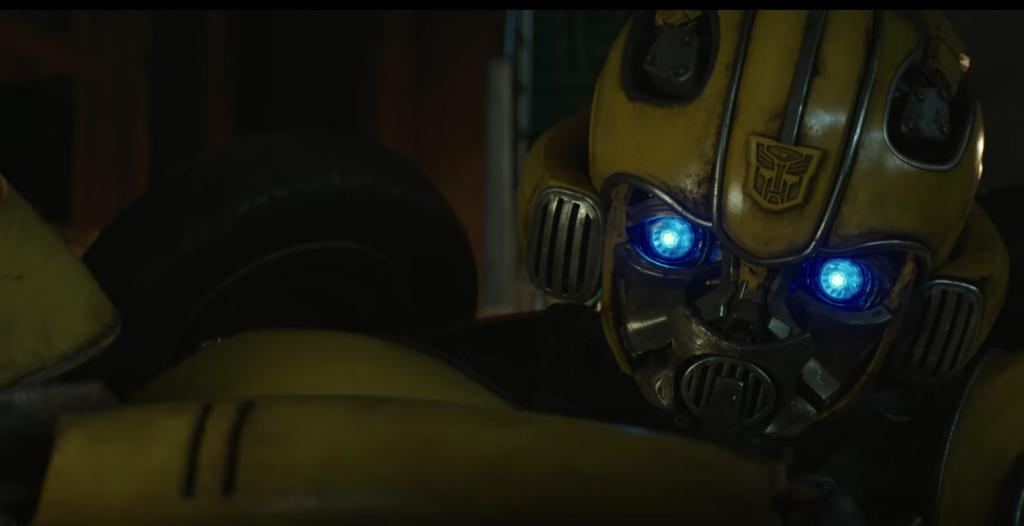 transformers bumblebee trailer autobot insignia face