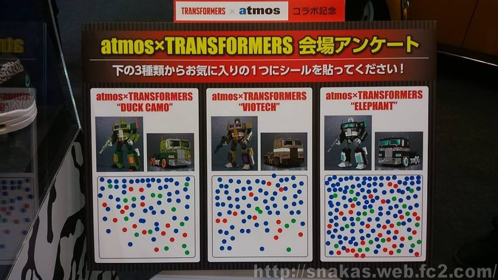 Transformers Atmos Shoe Wonderfest voting