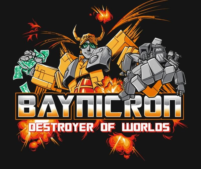 Michael Bay, the destroyer of childhoods comes to life in T-shirt form!