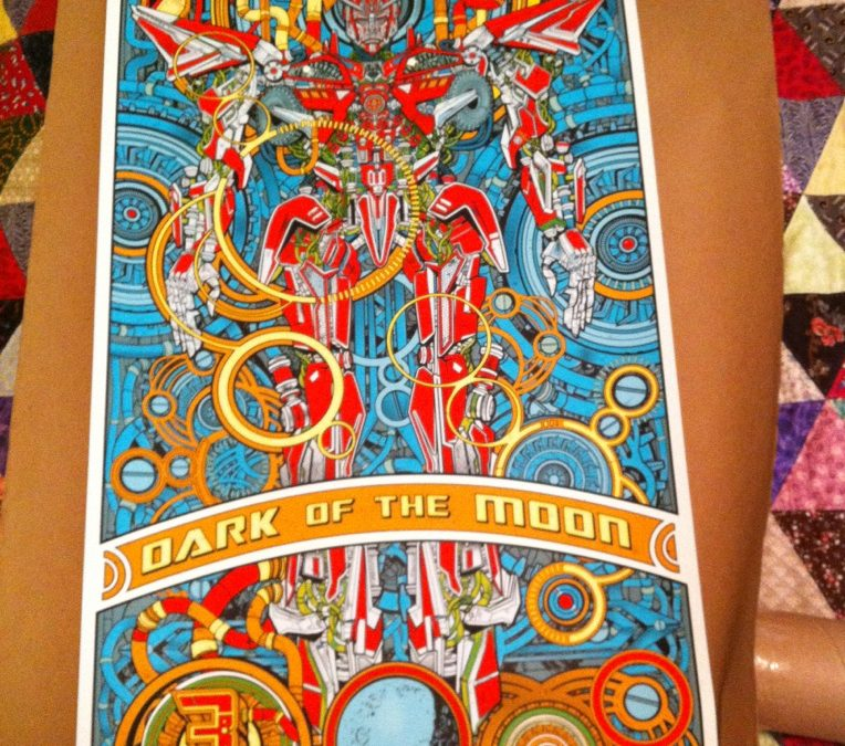 Mondo Dark of the Moon Sentinel Prime poster in the flesh