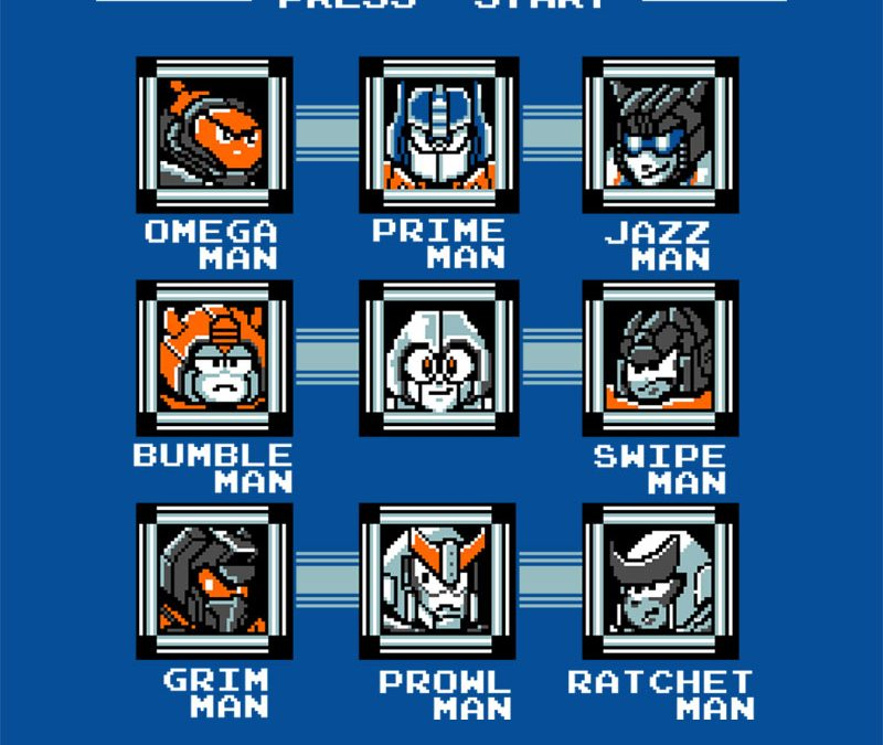 Destroy the Robot Masters – the best 8-bit Transformers shirt yet at RIPT Apparel
