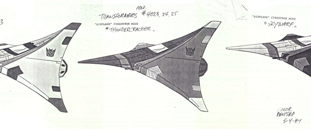 Starscream Tetrajet cartoon model and more cool stuff from the origins of the G1 Transformers cartoon